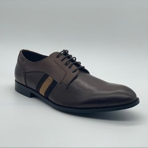 Steve Madden Round Toe Lace Leather  Derby Shoe